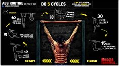 Personal Trainer - ABDOMINAL WORKOUT ROUTINE ON PULL UP BAR
