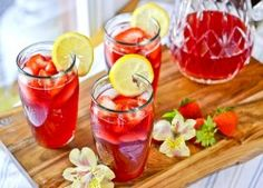 Strawberry Hibiscus-Tea Lemonade  {Nothing says summer more!}
