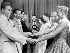 American Bandstand. THERE'S Justine second in from right! Been looking for her in all these pics. AND I think the first young man on the left was always her date!