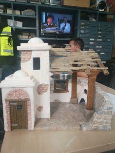 Nativity House, Nativity Stable, Diy Nativity, Christmas Nativity Scene, A Christmas Story, Vintage Christmas, Nativity Scenes, Christmas Crib Ideas, Christmas Program