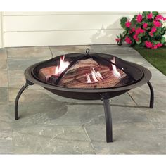 Living Accents® 28in Portable Firepit   Outdoor Fireplaces   Ace Hardware