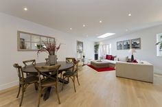 A beautiful living space in the new Percival Mews development, currently on the market for sale via Daniel Cobb.