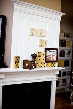 "A ""game room"" decoration idea..."
