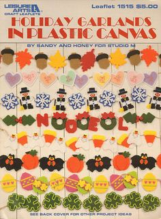 Holiday Garlands in Plastic Canvas Vintage Craft Book 1993