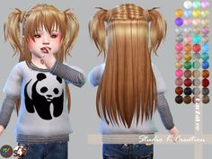 Sims 4 CC's - The Best: Toddlers Hair by Karzalee