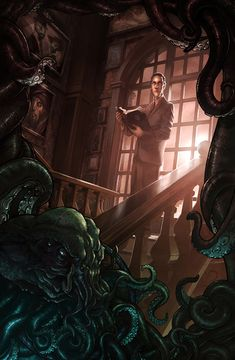 2D Art: HP Lovecraft - 2D Digital, Concept art, Digital paintings, FantasyCoolvibe – Digital Art