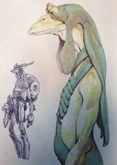 by Iain McCaig ★ || CHARACTER DESIGN REFERENCES | マンガの描き方 • Find more artworks at https://www.facebook.com/CharacterDesignReferences http://www.pinterest.com/characterdesigh and learn how to draw: #concept #art #animation #anime #comics || ★