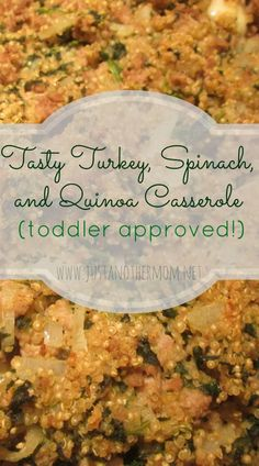 Looking for a healthy, hearty, and gluten free meal option? Try this tasty turkey, quinoa, and spinach casserole.