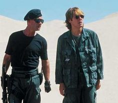 Kurt Russell with James Spader in Stargate