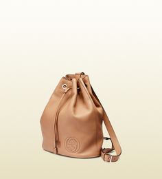 gucci soho leather drawstring backpack