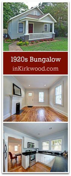 Super charming 1920s Craftsman Bungalow Home for Sale in Kirkwood Atlanta.