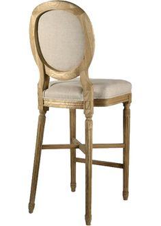 Zentique Furniture Medallion Bar Stool Natural Linen @Layla Grayce