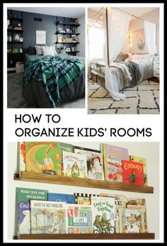 easy tips for how to organize kids rooms Medicine Cabinet Organization, Kids Room Organization, Track Shelving, Make Way For Ducklings, Futon Shop, Large Storage Baskets, Bed Sizes, Cool Diy Projects, Kid Spaces