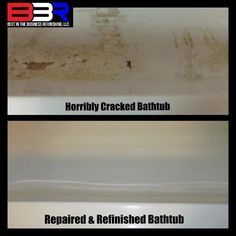 Bathtub Crack Repair by Best in the Business Refinishing, LLC Call Now (903) 916-0221 http://www.bestinthebusinessrefinishing.com/ #BathtubRepair #CrackRepair