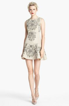 RED Valentino Floral Print Drop Waist Dress available at #Nordstrom