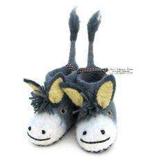 Darci Donkey | Felt Slippers | Sew Heart Felt