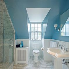 Traditional Bathroom Slanted Ceilings Design, Pictures, Remodel, Decor and Ideas