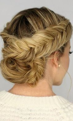 Braid Updo Hairstyle.