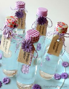Lavender Water Tutorial on EverythingEtsy.com - super easy to make!  Great DIY gift idea!