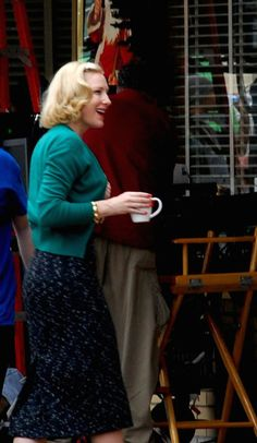 "Cate Blanchett on the set of ""Carol"""