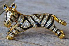 Vintage Zebra Shoulder Pin
