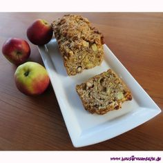 Brilles Apfelbrot Vegan Desserts, Let Them Eat Cake, Coffee Time, Banana Bread, Bakery, Cooking, Food, Delicious Vegan Recipes, Apple Recipes