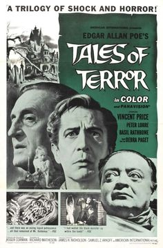 """greggorysshocktheater: """"via www.wrongsideoftheart.com Tales Of Terror (1962) starring Vincent Price, Peter Lorre, Basil Rathbone screenplay by Richard Matheson based on the works of Edgar Allan Poe produced and directed by Roger Corman American..."""