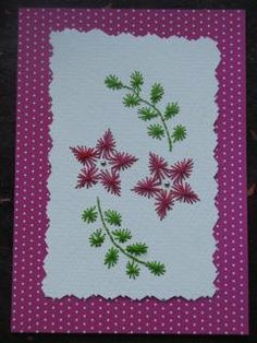 Hand Stitched Floral Card