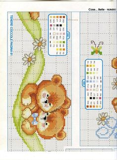 Sweet love bear chart1