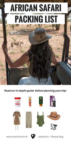 A complete African safari packing list (women and men). Including planning tips, safari outfit ideas and must haves for an African safari (shoes, etc). Safari Outfits, Safari Outfit Women, Safari Clothes, Travel Outfits, Best Insect Repellent, Visa Information, Travel Wardrobe, Packing Tips For Travel, Packing Lists