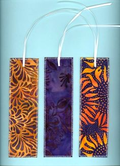 pattern fabric bookmarks..doesn't always need to be fancy or complicated if it's from the heart