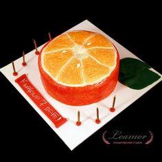 Торт в виде апельсина
