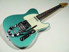 Fender Japan TL62B-BIGS Telecaster Guitar (Ocean Turquoise Metallic)