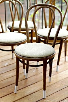 Upholstered seat Bentwood Chair