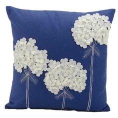 Mina Victory Felt Three White Flowers Navy Throw Pillow - Nourison Colorful, hand cut wool felt pillows are skillfully crafted and sewn to create a joyful collection to mix and match with all other Mina Victory pieces. Features: Fabric: Dimensions: x x Sewing Pillows, Diy Pillows, Handmade Pillows, Decorative Pillows, Cushions, Throw Pillows, Accent Pillows, Blue Pillows, Sewing Crafts