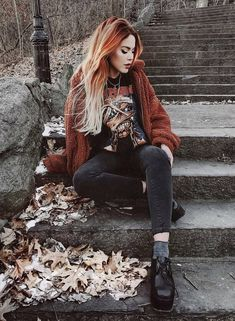 hipster outfits plus size Grunge Outfits, Hipster Outfits, Edgy Outfits, Fashion Outfits, Grunge Goth, Grunge Style, Soft Grunge, Punk Fashion, Grunge Fashion
