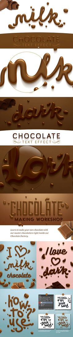 Chocolate text effect by Evlogiev Creative on @creativemarket