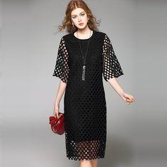 NEXIIA 2016 Spring Summer Women Fashion Casual Hollow Loose Dress O-Neck Half Sleeves Fake Two Pieces White Black Dress NXG7709