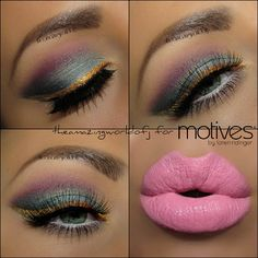 Colorful makeup!