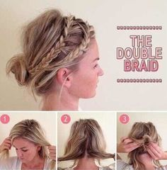 The Double Braid Bun - Ways to Pull Off the Perfect Messy Pinterest Updo - Photos