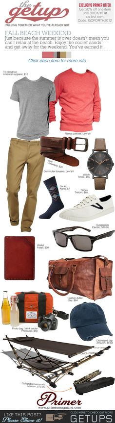 The Getup: Fall Beach Weekend & Exclusive 20% Off at us.levi.com | Primer