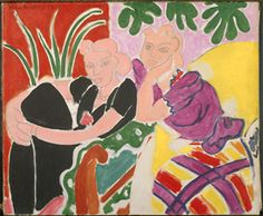 Who can match Henri Matisse for the exuberant collusion of colour and form, stalked by intimacy and desire?    We admit into our bedroom on the Key only Henri Matisse, as in....La Conversation (1938), oil on canvas.  MOMA.