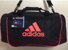New ADIDAS Defense Medium Duffel Unisex Gym bag luggage Black Infra Red #Adidas