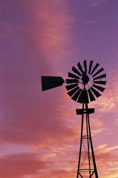Old Windmilland beautiful sunsets ~ Lubbock, Texas