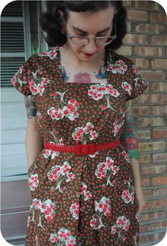 Finished project: 1944 Apple picking dress | by gum, by golly!