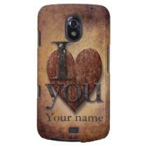I Love You Steampunk Valentine Samsung Galaxy Nexus Covers by Paul Stickland for StrangeStore on Zazzle #strangestore #valentines