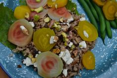 Candy Striped Beet Salad with Wild Rice and Goat Cheese.  Green With Renvy: Meatless Monday