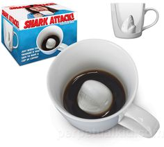 Shark Attack Mug: *Cue iconic Jaws music.* This looks like it would be fun to spring on unsuspecting guests. :D