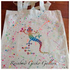 Rainbow Gecko Gallery Calico Tote Bag by RainbowGeckoGallery, $10.00
