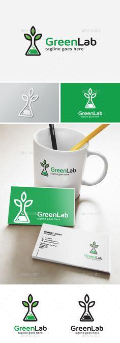 Green Lab Logo Template Transparent PNG, Vector EPS, AI Illustrator #logotype Download here: http://graphicriver.net/item/green-lab-logo/14112651?ref=ksioks